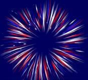 Vuurwerk op Blauw Royalty-vrije Stock Afbeeldingen