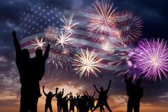 Vuurwerk op de Dag van de Onafhankelijkheid royalty-vrije stock foto's
