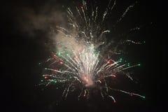Vuurwerk op de donkere hemel Royalty-vrije Stock Fotografie