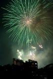 Vuurwerk op de Vooravond van Nieuwjaren in Sydney, Australië Royalty-vrije Stock Afbeelding