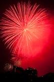 Vuurwerk op de Vooravond van Nieuwjaren in Sydney, Australië Stock Afbeelding