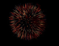 Vuurwerk op de Wedstrijd van het Strand. Stock Foto