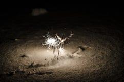 Vuurwerk op het Nieuwjaar stock foto