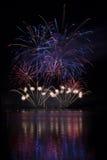 Vuurwerk op het water - Ignis Brunensis Royalty-vrije Stock Foto's