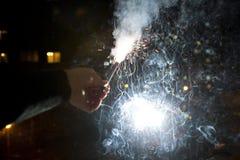 Vuurwerk op nieuw jaar 2010 Stock Foto's