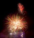 Vuurwerk op 5 November Guy Fawkes Night Royalty-vrije Stock Foto