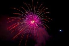 Vuurwerk op overzees Stock Foto's