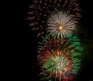 Vuurwerk op 4 van Juli Royalty-vrije Stock Fotografie