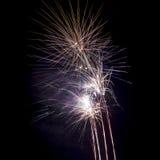 Vuurwerk op zwarte achtergrond Royalty-vrije Stock Foto