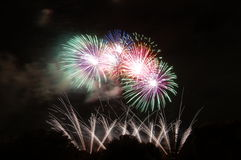 Vuurwerk over Bonython Stock Afbeeldingen