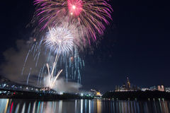 Vuurwerk over Ottawa Royalty-vrije Stock Fotografie