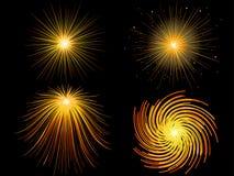 Vuurwerk, straal van licht Stock Foto