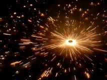 Vuurwerk tijdens Indisch festival Diwali Stock Foto's
