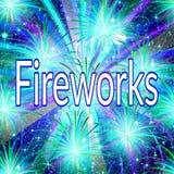 Vuurwerk, vakantieachtergrond Stock Fotografie