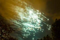 Vuurwerk in Valencia stock afbeeldingen