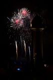 Vuurwerk 1 van Barcelona Stock Foto