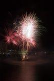 Vuurwerk van de Verjaardag van de Haven van de schat het 21ste Stock Foto's