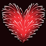 Vuurwerk van het hart Stock Foto's