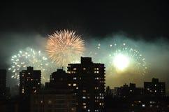 Vuurwerk in Vancouver Stock Afbeelding