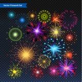 Vuurwerk vectorillustratie Stock Foto