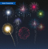 Vuurwerk vectorillustratie Royalty-vrije Stock Afbeeldingen