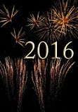 Vuurwerk voor 2016 Stock Afbeeldingen