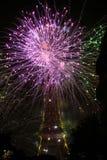 Vuurwerk voor 14 Juli in Frankrijk Stock Afbeelding