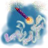 Vuurwerk voor Nieuwjaar Royalty-vrije Stock Fotografie