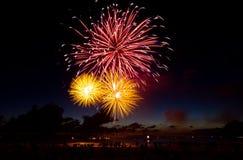 Vuurwerk XIX van Nederland - van Scheveningen royalty-vrije stock foto