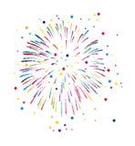 Vuurwerkachtergrond Royalty-vrije Stock Afbeeldingen