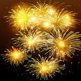 Vuurwerkachtergrond Royalty-vrije Stock Foto