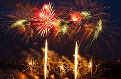 Vuurwerkfestival Royalty-vrije Stock Afbeeldingen