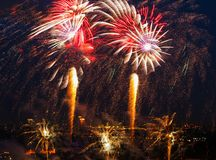 Vuurwerkfestival Stock Afbeeldingen