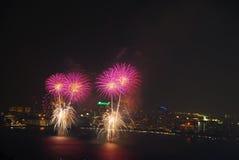 Vuurwerkfestival stock foto
