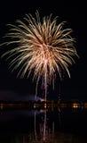 Vuurwerkfestival in de dag Stock Afbeeldingen