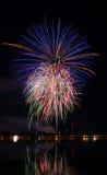 Vuurwerkfestival in de dag Stock Fotografie