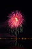 Vuurwerkfestival in de dag Stock Foto