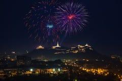 Vuurwerkfestival in Thailand Royalty-vrije Stock Fotografie