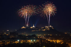 Vuurwerkfestival in Thailand Stock Foto