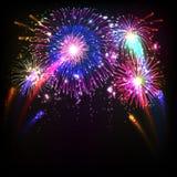 Vuurwerkillustratie Stock Foto