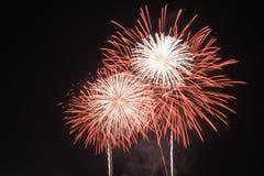 Vuurwerklicht omhoog de hemel Stock Foto