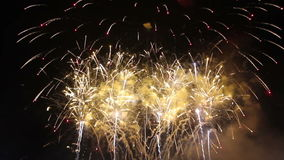 Vuurwerkvertoning in festival stock footage