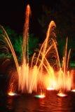 Vuurwerkvertoning op een meer Royalty-vrije Stock Afbeelding