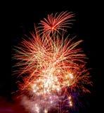 Vuurwerkvertoning op Guy Fawkes Night Royalty-vrije Stock Fotografie