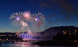 Vuurwerkvertoning Vancouver 2016 Stock Foto