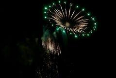 Vuurwerkvertoning voor Vierde van Juli in St Augustine, Florida, de V.S. Stock Afbeelding