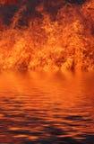 Vuurzee Stock Afbeelding