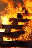 Vuurzee, het branden heksen Stock Afbeelding