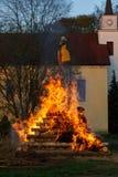 Vuurzee, het branden heksen Royalty-vrije Stock Afbeelding