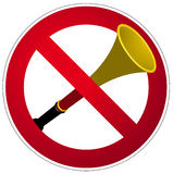 vuvuzela 免版税库存图片